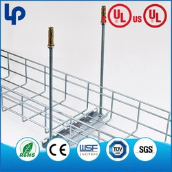 wire mesh basket cable trays , wire mesh cable tray making machine