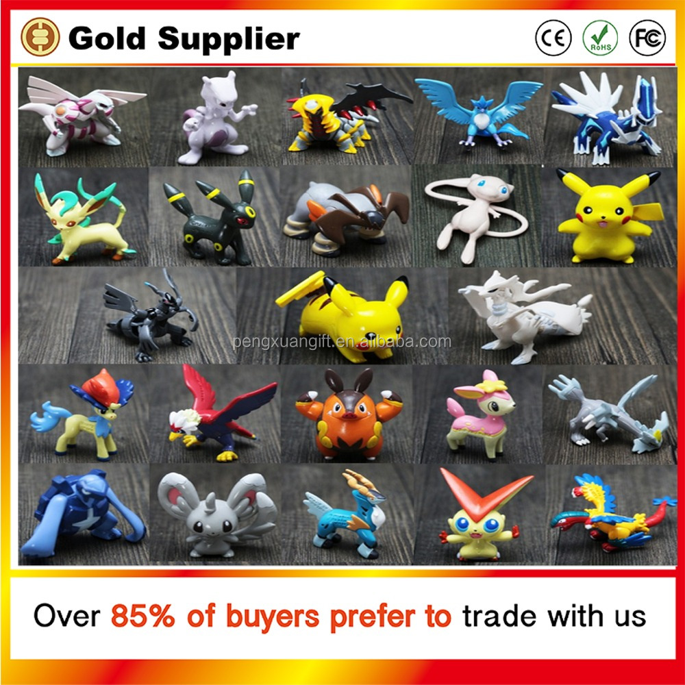 144pcs Differents LPS Pokemon Figures Toy Cartoon Anime Mini Pokemon Go Set Action Figures