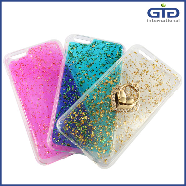 [GGIT] Multi-Function Bling Glitter TPU Material Free Sample Mobile Phone Accessories Case with Finger Grip