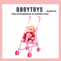 Folding IC crying baby doll stroller with nipple toy