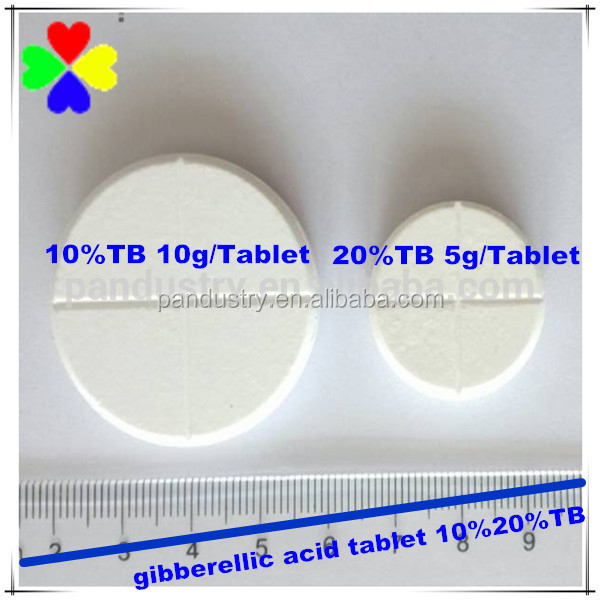 2015 high grade manufacturing company GA3 tablet 10%20%TB