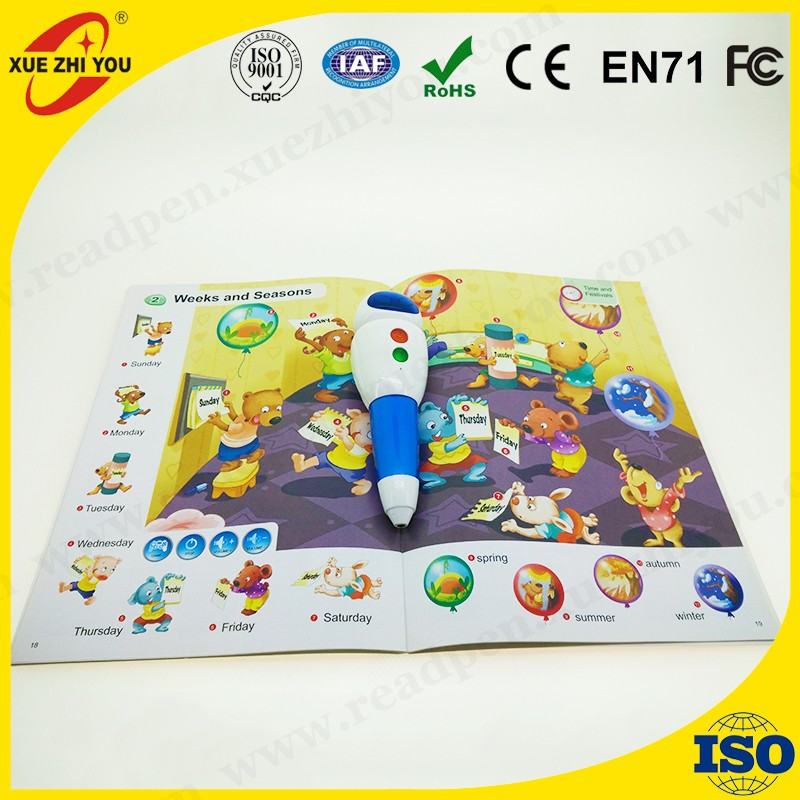 Lovely multi languages talk pen kids learning reading pen with audio books