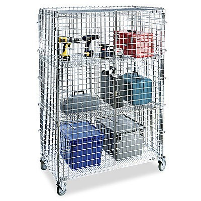 Chrome Movable Wire Mesh Security Cage