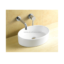 Oval Shaped Water Closet Toilet Outdoor Ceramic Hand Washing Basin
