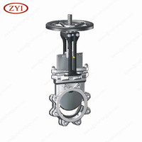 Free sample high pressure big size gear operated knife gate valve