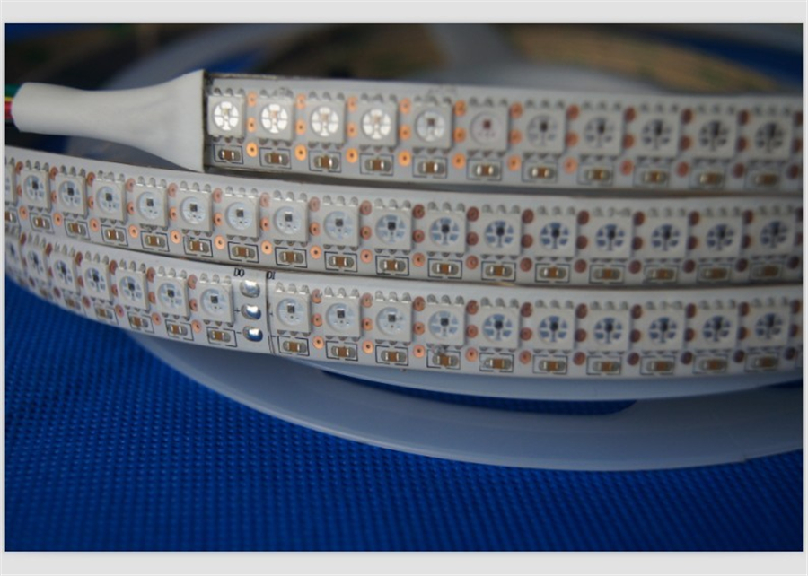 Programmable WS2812B 5050 SMD 60 leds/m 144 leds/m addressable rgb led strip