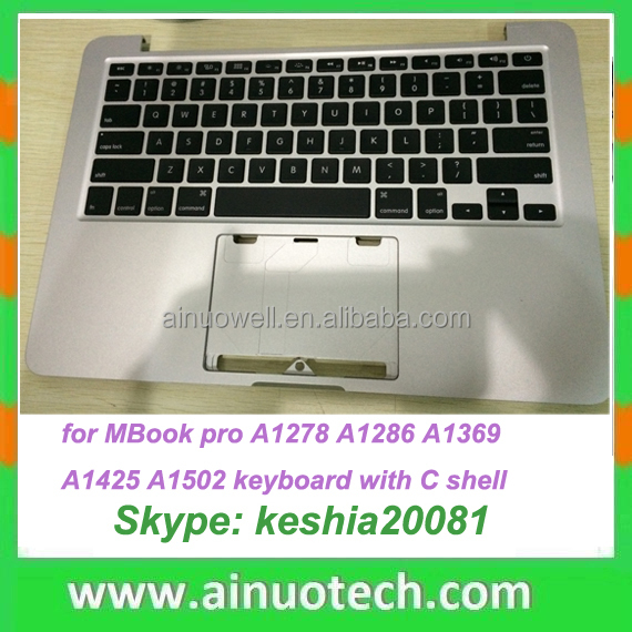 Laptop Spanish Keyboard with Case and touchpad For MacBook pro A1502 A1278 A1286 A1369 A1398 A1425 A1466 backlight With C Shell