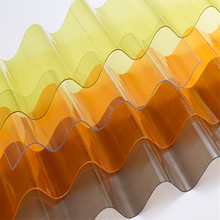 New products 3M flame resistance plastic lexan corrugated roofing sheet