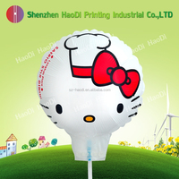Kitty ballon and customize foil mylar helium cartoon balloon