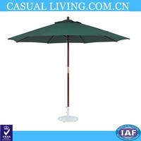 11-foot Wood Green Market Umbrella