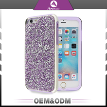 Popular newest style soft tpu interior phone cover colorful crystal bling bling luxury diamond pc cell phone case