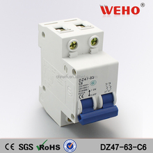2P 6A C45 MINI CIRCUIT BREAKER/MCB 2P/electrical circuit breaker