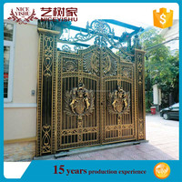 High quality direct factory low price House main gate designs steel pipe gate design
