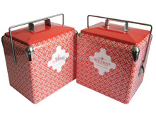 vintage style retro cooler boxes Insulated Metal Ice cooler