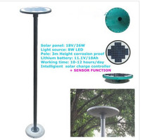 stainless steel IP65 solar garden light circuit/20w led solar garden light/solar garden lighting system