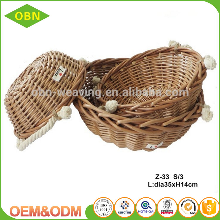 Wholesale cheap custom any size decorative small gift wicker baskets in bulk