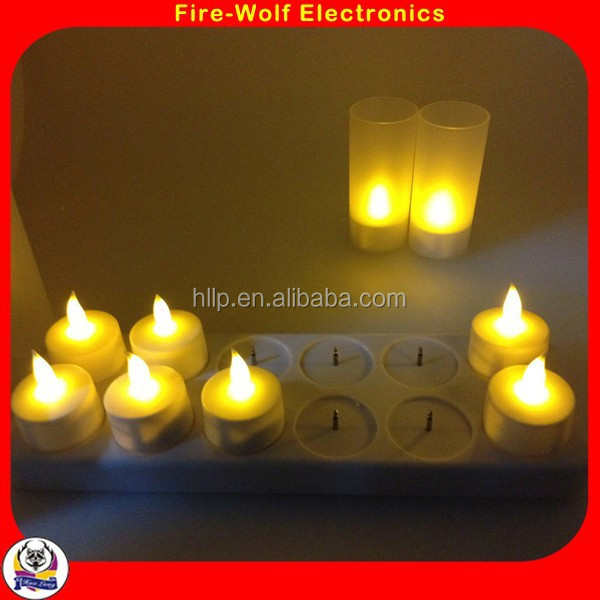 Recharging Electric White Plastic Mini LED Tea Light Candle For Spa Room