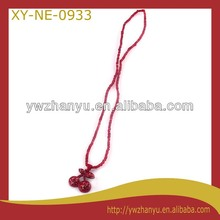 fashion red cherry pendant mini beads strand chain charm kids necklace