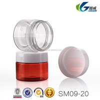 20g clear PET jar with aluminium cap for cream cosmetic packaging,0.9oz plastic pet jar,20ml empty pet plastic jar for hair gel
