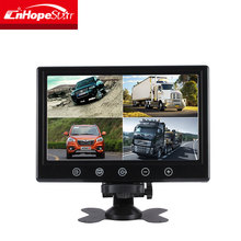 Wall mount 16:9 ratio displey 9 inch car cctv monitor lcd with BNC input
