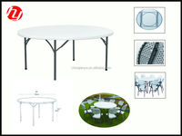 5ft round folding table for 8 people useround and dining table with rotating centre
