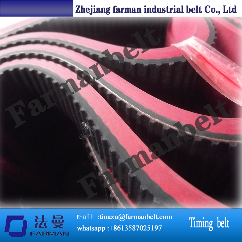 Industrial pu open ended timing Belt with red rubber coating