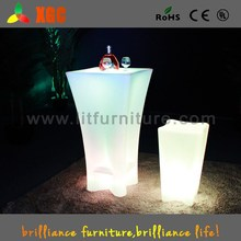 multy-color bar table nightclub commercial bar counter for sale color-changing LEDs rotating dining table