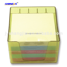 good quality colorful memo cube for office, school in plastic box