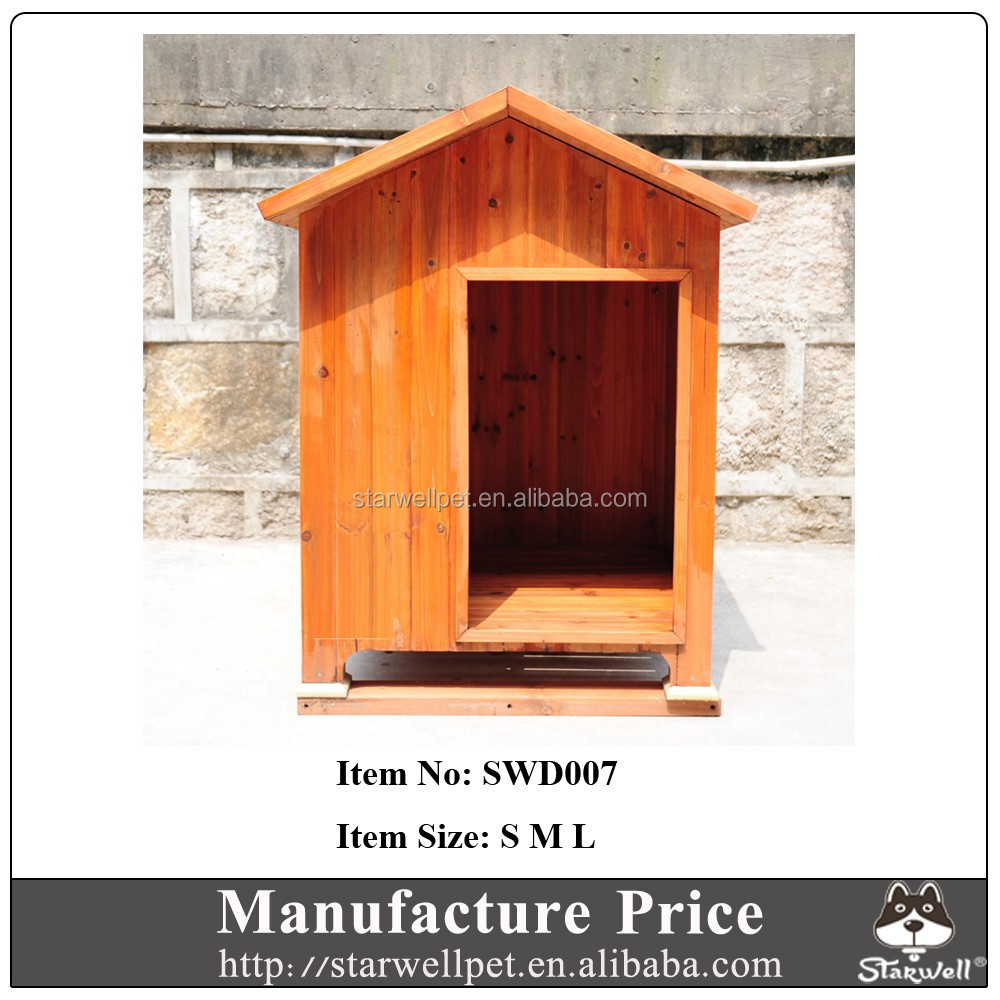 Manufacture wholesale custom wooden dog kennel designed