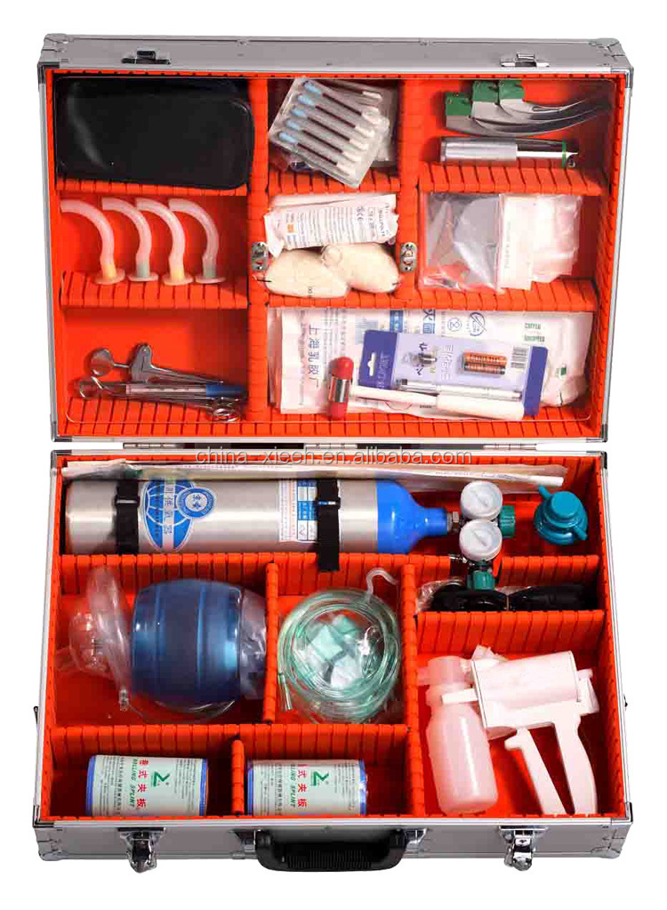 XH-07C The best quality empty metal first aid box,aluminum metal first aid kit tool case