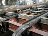 Horizontal coal fired cross-girder type grate stoker steam boiler parts manufacture