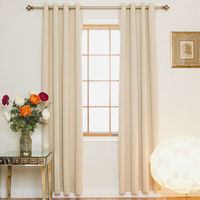 Nickel Grommet Top Energy Saving Thermal Insulated Blackout Curtain Pair