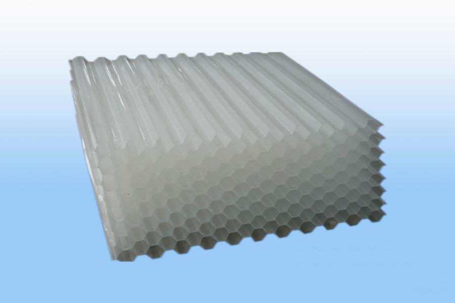 Tube Settler Media for waste water treatment/Good design Honeycomb inclined pipe/PVC Plastic hexagon honeycomb packing