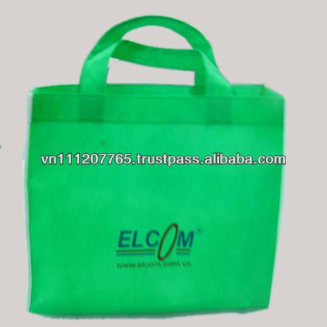 Green Color PP Tote Handle shopping Bag