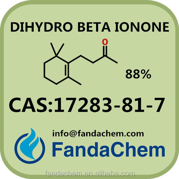 cas no 17283-81-7; Dihydro beta Ionone 88%