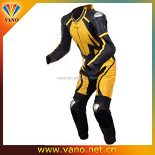 Leathers Full Armor Knee Pucks Waterproof Motorcycle Leather Racing Suit