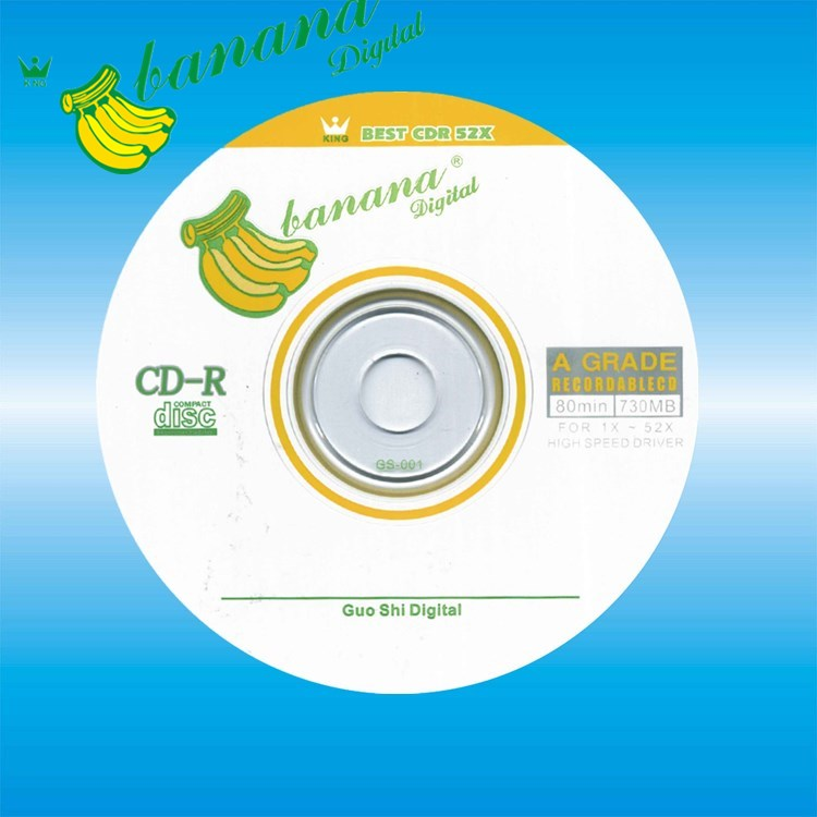 photograph regarding Printable Cd R named Blank Cdr Banana Cd-r Disc Printable Cdr - Obtain Blank Cd-r,Cd-r Printable,Finish Confront White Inkjet Printable Cd-r Material upon