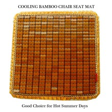 soft sponge bamboo surface cool sitting mat for chair