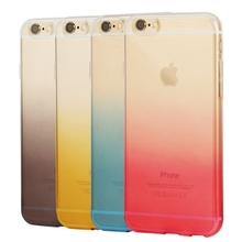 Wholesale Resistant Protective Cover HAWEEL Ultra Slim Gradient Color Clear Soft TPU for Iphone 6 Case