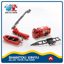 Funny gift fire vehicle set small model car 1:43 die cast toy with mixed package