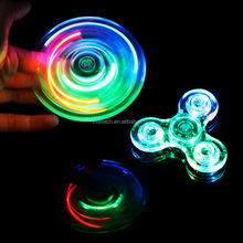 NEW Stress Reducer popular LED Fidget Spiner for Adults, EDC ADHD Focus Toys popular LED Crystal Fidget Spinner