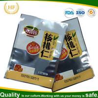 2016 Hot sale aluminum foil bags for semen juglandis/nut food packaging heat seal
