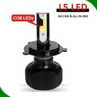 Auto part, car accessories fanless led super white 2 color in one lamp led headlight 60w 6000lm h4 h7 h11 h13 led headlight h4