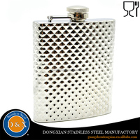8OZ copper plated stainless steel hip flask personalized