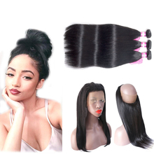 Straight Hair 100% Remy Human Hair Extensions Brazilian Hair Weave Bundles