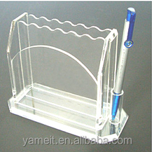 OEM/ODM low price tin pencil case acrylic pen box PMMA pen case