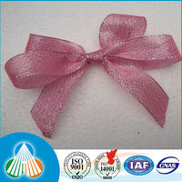 organza metallic pull bow ribbon tie