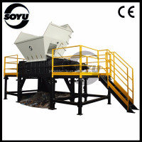Large plastic pieces double cutter crusher