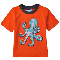 Custom design high quality cotton printed toddler boy tshirts