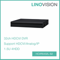 New 32CH 1.5U 4HDD Tribrid 720P-Pro H.264 HDCVI DVR , Support HDCVI/Analog/IP